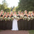 Elegant Black Scoop Neck Floor-Length Chiffon Prom Dresses Affordable Bridesmaid Dresses