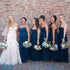 Fashion Navy Blue Sweetheart Long Chiffon Evening Dresses Bridesmaid Dresses