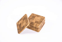 Load image into Gallery viewer, Solid Oak End Grain Coasters (Pack of 6)