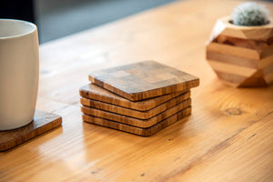 Solid Oak End Grain Coasters (Pack of 6)