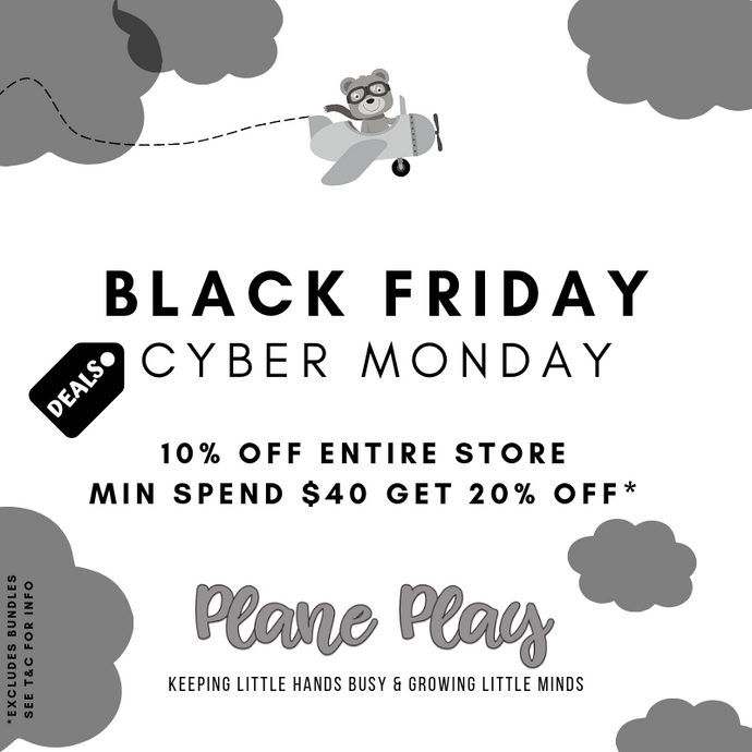 Plane Play Black Friday & Cyber Monday Sale Event