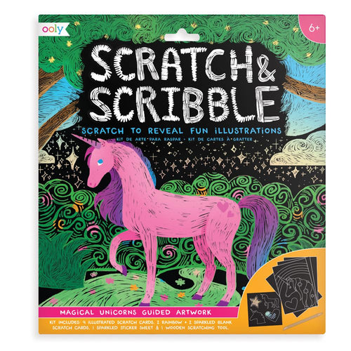 Ooly - Scratch and Scribble Art Kit - Magical Unicorns