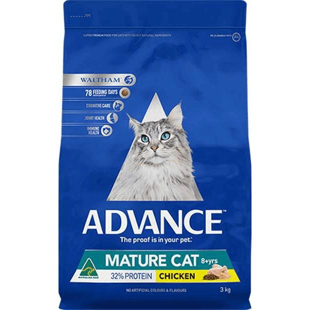 Advance Mature Dry Cat Food 8 years + Chicken 3kg - Epic Pet