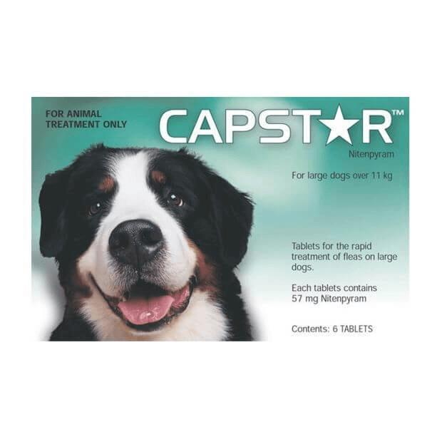 Capstar 57mg Flea Tablets for Large Dogs 11.1 - 57kg Green 6 Pack - Epic Pet