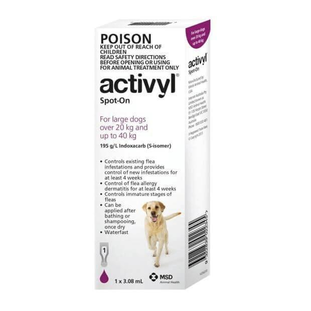 Activyl for Large Dogs Purple 20 - 40kg - Epic Pet