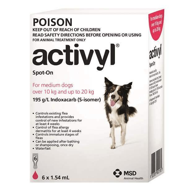 Activyl for Medium Dogs Red 10 - 20kg - Epic Pet