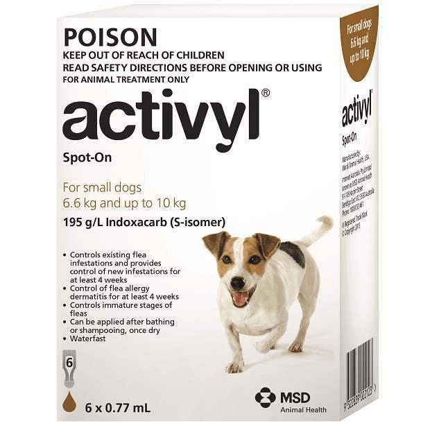 Activyl for Small Dogs Brown 6.6 - 10kg - Epic Pet