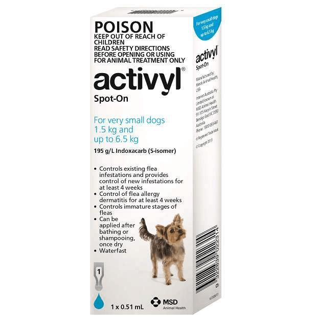 Activyl for Very Small Dogs Light Blue 1.5 - 6.5kg - Epic Pet