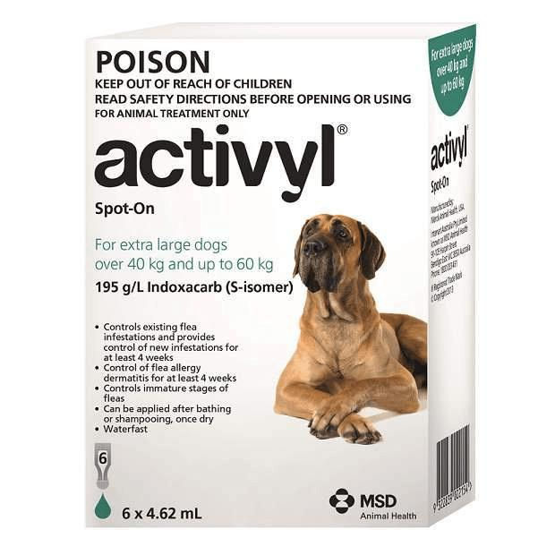 Activyl for Extra Large Dogs Green 40 - 60kg - Epic Pet