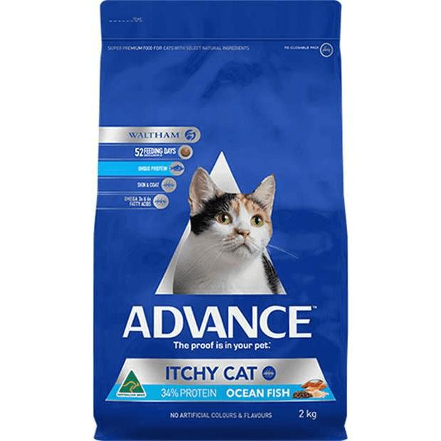 Advance Itchy Cat Dry Food Ocean Fish 2kg - Epic Pet