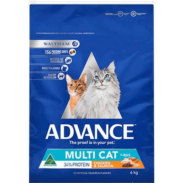 Advance Multi Cat Dry Food Adult Chicken & Salmon - Epic Pet