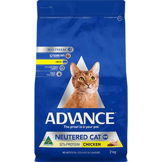 Advance Neutered Dry Cat Food Chicken 2kg - Epic Pet