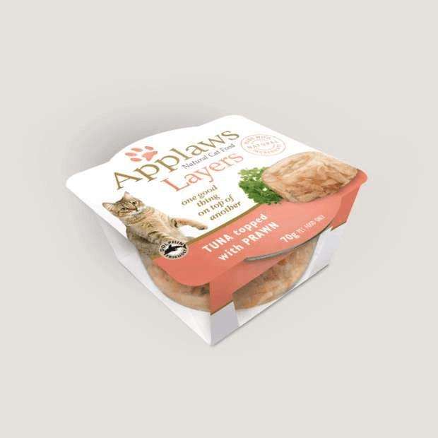 Applaws Wet Cat Food Tuna Topped with Prawn Layers 70g x 10 - Epic Pet