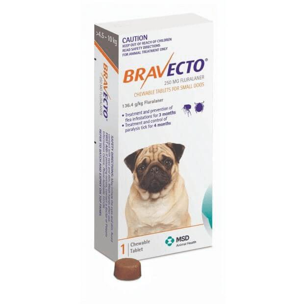 Bravecto Chews Small Dog (4.5-10kg) Orange 1 Pack - Epic Pet