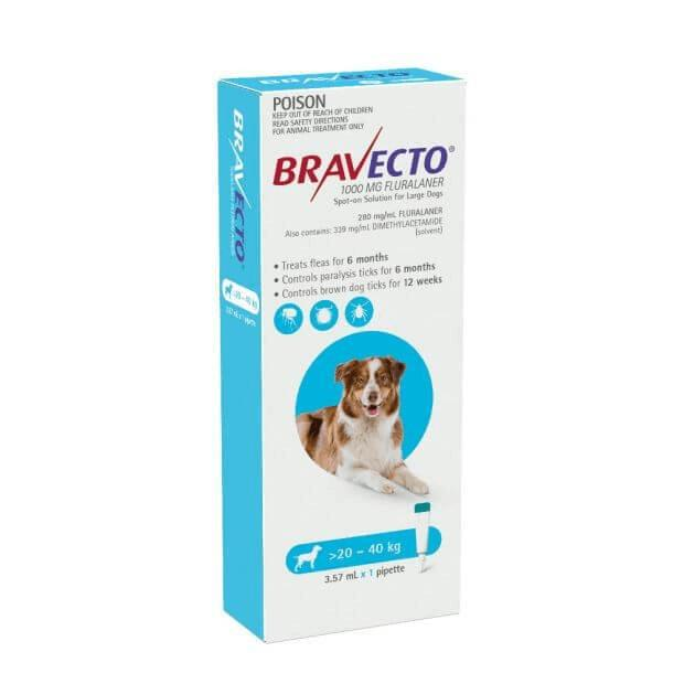Bravecto Spot On Large Dog (20 - 40 kg) Blue - Epic Pet