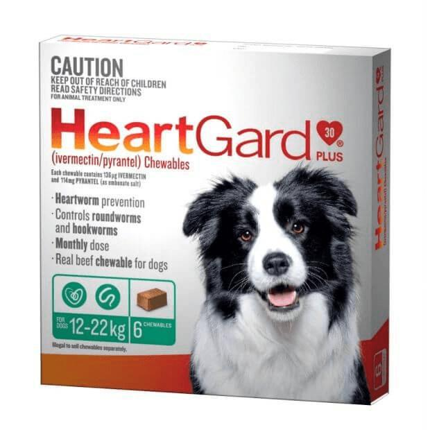 Heartgard Plus For Dogs Green 12-22kg 6 Pack - Epic Pet