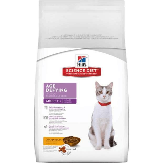 Hills Science Diet Adult Cat Food 11+ Age Defying - Epic Pet