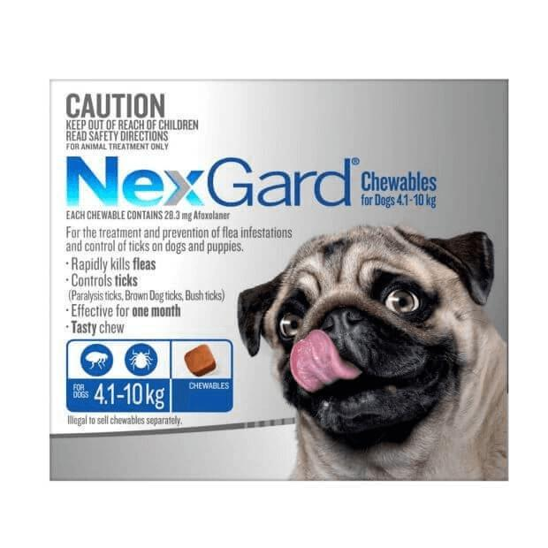 Nexgard For Small Dogs Blue 4.1 -10kg Chews - Epic Pet