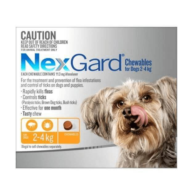 Nexgard For Very Small Dogs Orange 2-4kg Chews - Epic Pet