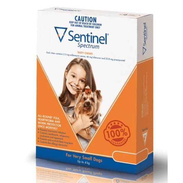 Sentinel Spectrum for Very Small Dogs Brown 0-4kg - Epic Pet