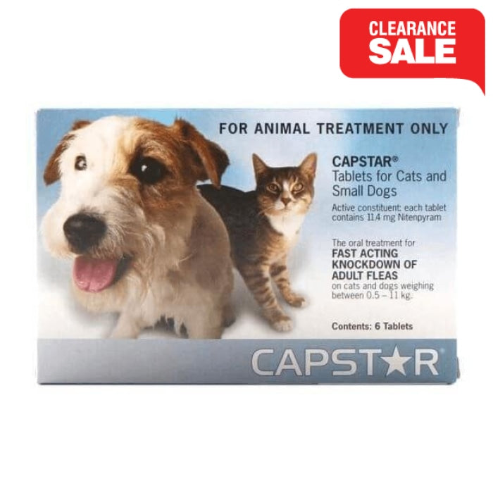 Capstar Flea Tablets Blue 6 Pack -CLEARANCE - Epic Pet