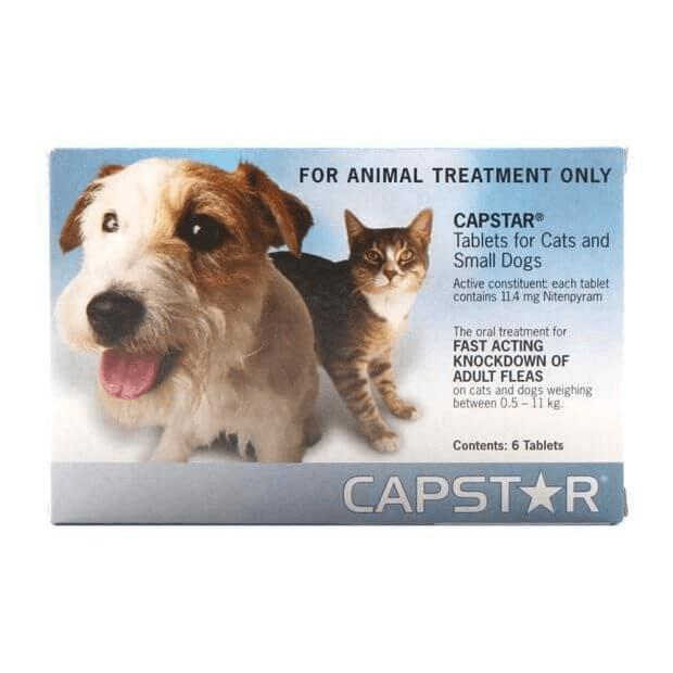 Capstar Flea Tablets for Cats, Puppies & Small Dogs 0.5 - 11kg Blue 6 Pack - Epic Pet