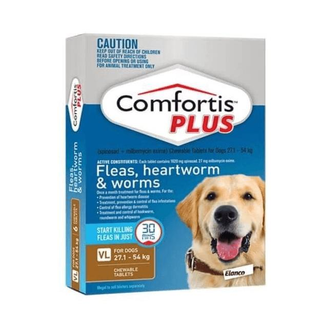 Comfortis Plus Brown for Dogs 27.1 - 54kg - Epic Pet