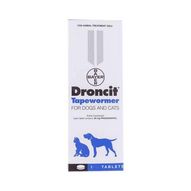 Droncit Tapewormer Tablets for Dogs and Cats 50mg 100 Pack - Epic Pet