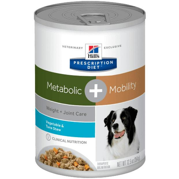 Hills Prescription Diet Wet Dog Food Metabolic & Mobility Tuna Stew 12 x 354g - Epic Pet