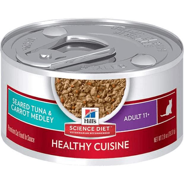 Hills Science Diet Healthy Cuisine Adult Cat Wet Food 11+ Seared Tuna 79g x 24 - Epic Pet