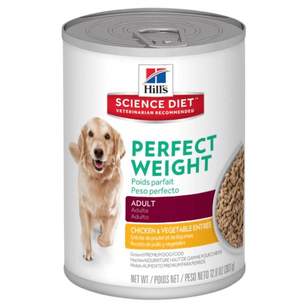Hills Science Diet Perfect Weight Adult Dog Food Chicken and Vegetables 363g x 12 - Epic Pet