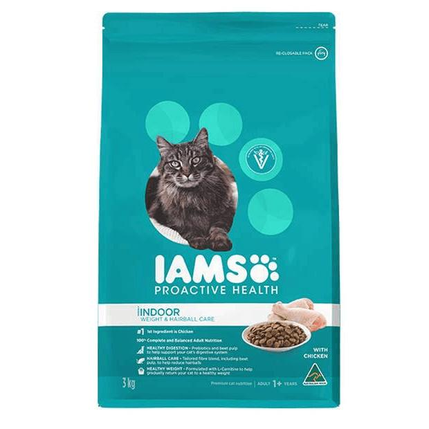 Iams Adult Cat Food Indoor Weight & Hairball Control with Chicken - Epic Pet