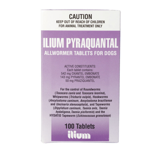 Ilium Pyraquantal Dog Worming Tablets Bulk 100 Pack - Epic Pet