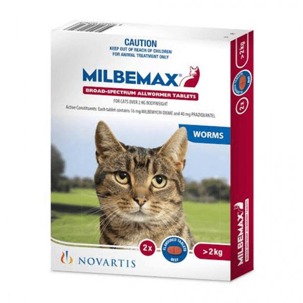 Milbemax for Large Cats Over 2kg 2 Pack - Epic Pet