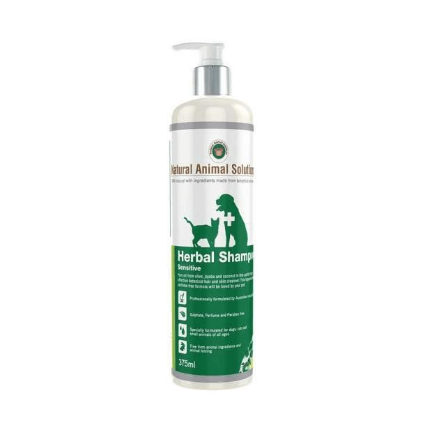 Natural Animal Solutions Sensitive Herbal Shampoo 375ml - Epic Pet