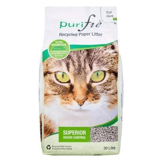 Purifie Recycled Paper Cat Litter 30L - Epic Pet