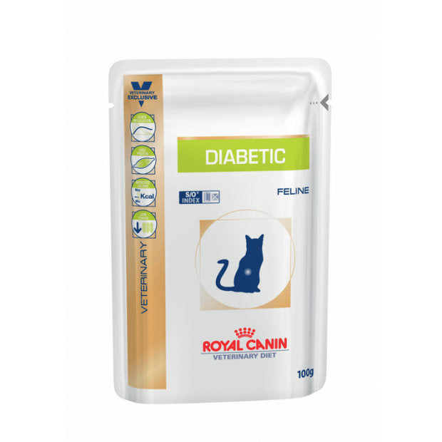 Royal Canin Veterinary Cat Wet Food Diabetic Pouches 12 x 100g - Epic Pet