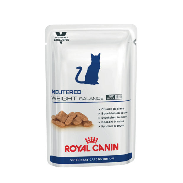 Royal Canin Veterinary Cat Wet Food Neutered Weight Balance Pouches 12 x 100g - Epic Pet