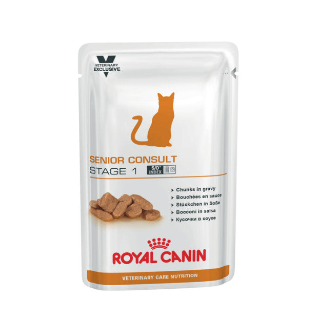 Royal Canin Veterinary Wet Cat Food Senior Stage 1 Pouches 100g x 12 - Epic Pet