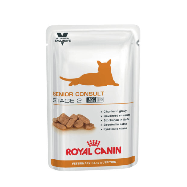 Royal Canin Veterinary Wet Cat Food Senior Stage 2 Pouches 100g x 12 - Epic Pet