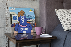EVERTON Dad and lass