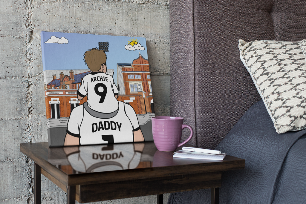 FULHAM Dad and lad