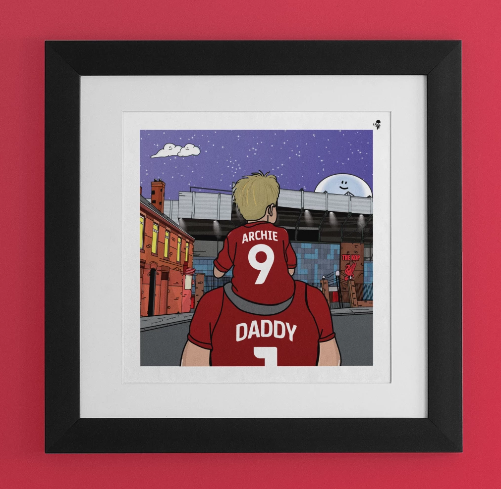 LIVERPOOL Dad and lad