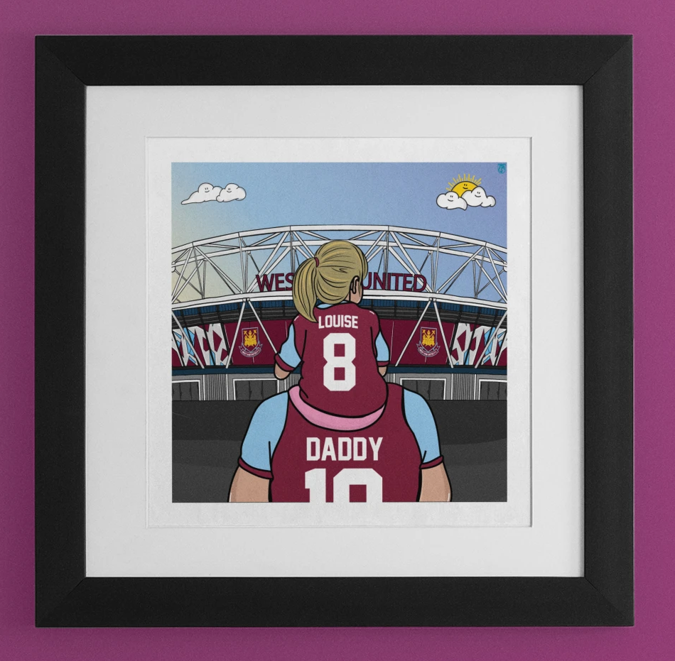 WEST HAM Dad and lass
