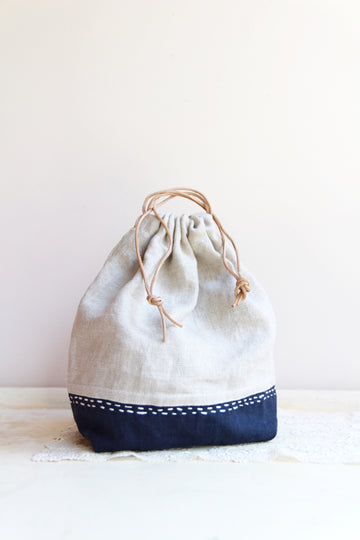 Machine Sewing Intro  - Simple drawstring bag