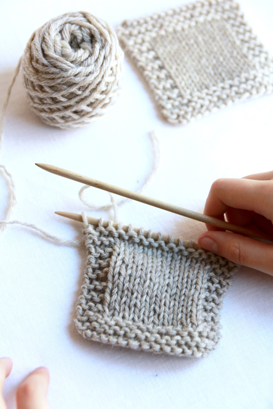 Knitting Beginner  -  One day