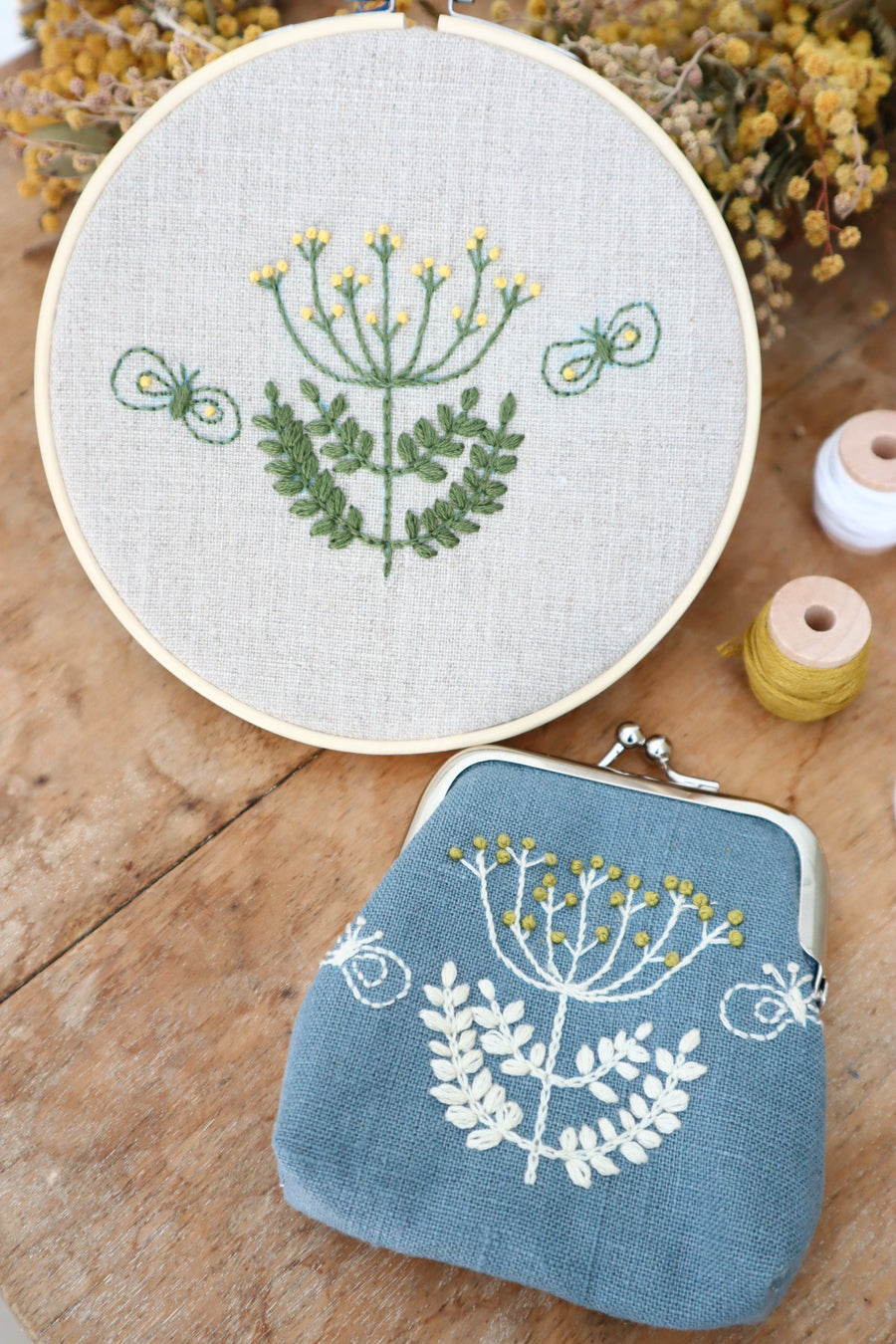 Learn to embroider - Yellow Flower Embroidery