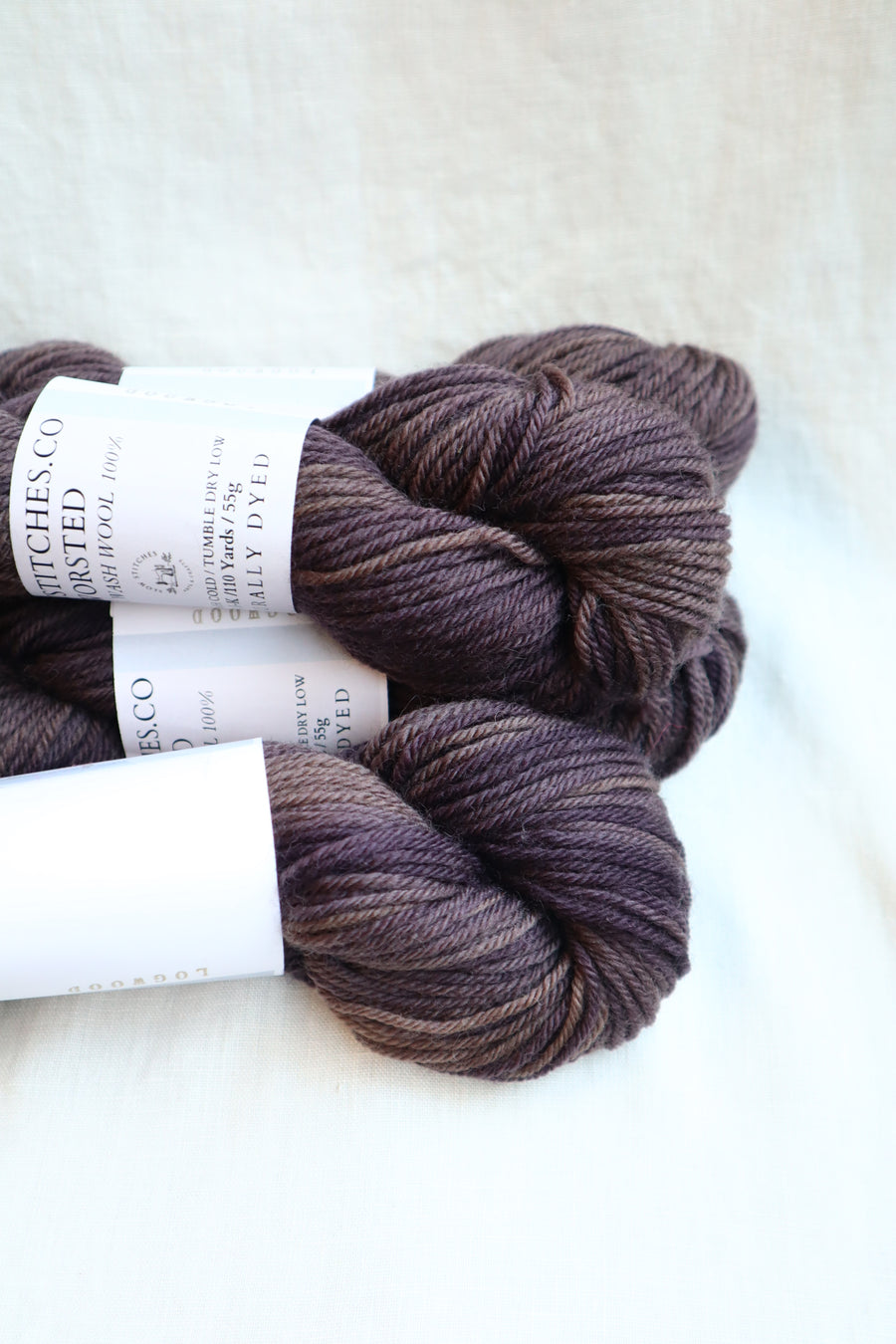 Naturally Dyed Yarn / Worsted / Logwood