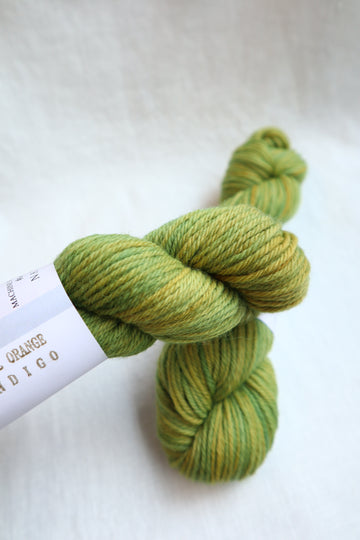 Naturally Dyed Yarn / Worsted / Osageorange & Indigo1