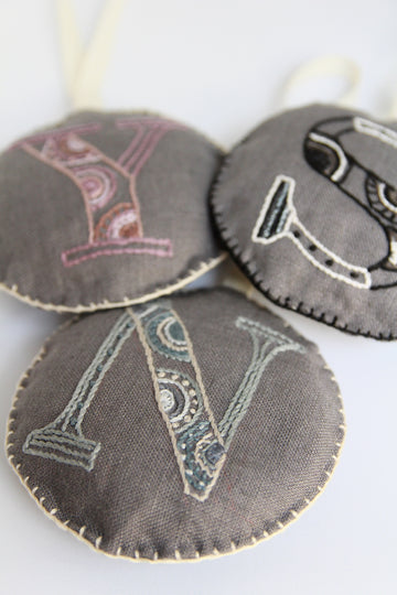 11/8 Friday Monogram enbroidery ornament